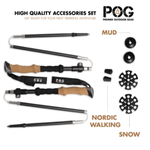 POG Kephart Z Fold Carbon Fiber Hiking Poles Accessories