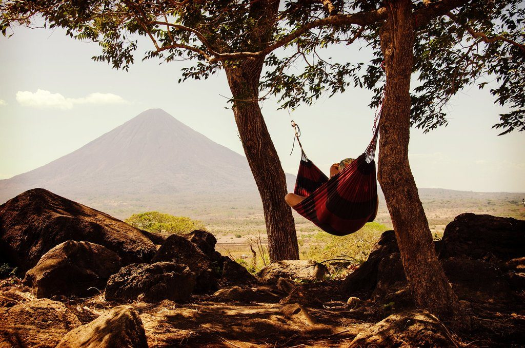 Camping Hammock with Mountain