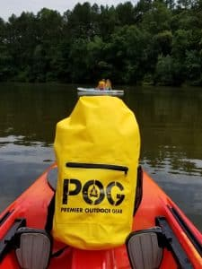 Dry bag in Kayak